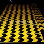 การสกรีนบนสติ๊กเกอร์สะท้อนแสงเอ็นจิเนียร์เกรดสีเหลือง 349 แผ่น