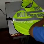 เสื้อสะท้อนแสงสีเขียว Hole Watch Man
