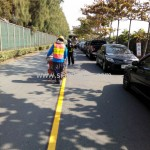 งานตีเส้นถนนด้วยสีเทอร์โมพลาสติก บริษัท ยูนิไทยชิปยาร์ด แอนด์ เอนจิเนียริ่ง จำกัด