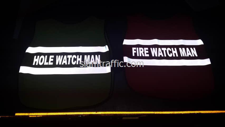 เสื้อสะท้อนแสง FIRE WATCH MAN และเสื้อจราจร HOLE WATCH