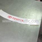 สติ๊กเกอร์สะท้อนแสงสกรีนโลโก้ Toyota