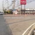 ตีเส้นถนนโรงงานโค้กปทุมธานี