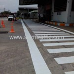 ตีเส้นทางม้าลายโรงงานโค้ก ปทุมธานี คลอง 13