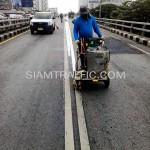 รับเหมาตีเส้นจราจรโครงการปรับปรุงสะพานข้ามแยก ถนนพระรามที่ 4-สีม (ไทย-ญี่ปุ่น)
