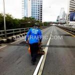 รับเหมาตีเส้นโครงการปรับปรุงสะพานข้ามแยก ถนนพระรามที่ 4-สีม