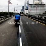รับเหมาตีเส้นถนนโครงการปรับปรุงสะพานข้ามแยก ถนนพระรามที่ 4-สีม