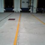 Road line marking โรยลูกแก้วสะท้อนแสง หน่วยงาน DHL BTS บางนา-ตราด กม.23