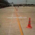 Road line marking at DHL Bangna km.23