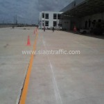 Thermoplastic road marking at DHL Bangna km.23