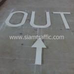 ตีเส้นจราจรด้วยสีเทอร์โมพลาสติก Thai Dec Factory อีสเทิร์นซีบอร์ด จังหวัดระยอง