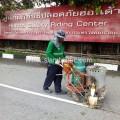 ตีเส้นถนน ศูนย์ฝึกขับขี่ปลอดภัยฮอนด้า สำโรง