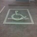 รับตีเส้นจราจรกรุงเทพ สัญลักษณ์คนพิการ อาคารอเนกประสงค์ ททบ.5