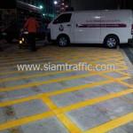 ตีเส้นถนน ศูนย์บริการโลหิตแห่งชาติ สภากาชาดไทย