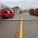 ตีเส้นลานจอดรถ โรงงานอุตสาหกรรม จังหวัดปทุมธานี