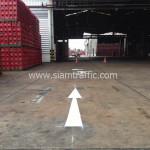 ตีเส้นจราจรลาดยาง โรงงานอุตสาหกรรม จังหวัดปทุมธานี
