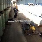 การสีตีเส้นถนน บริษัท ธนากรผลิตภัณฑ์น้ำมันพืช จำกัด