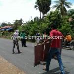 ตีเส้นถนน ประเทศกัมพูชา