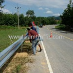 safety guard rail แขวงทางหลวงสุโขทัย กรมทางหลวง