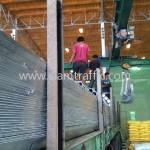 w beam guard rail จำนวน 500 แผ่น ส่งไปจังหวัดเชียงราย