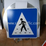 Cambodia Traffic Sign Pedestrian Crossing Area G4-03