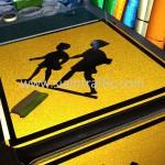 Children Crossing Sign W1-33 Improvement of National Road 56 (NR56) Sisophon km.29+000 to Samrong