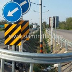 w beam guardrail ทางหลวงหมายเลข 4 ตอนควบคุม 0603 ตอนหนองหมู - ห้วยยาง