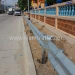 guardrail คือราวเหล็กกันทางโค้ง จำนวน 416 แผ่น ติดตั้งที่จังหวัดชลบุรี
