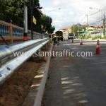 guardrail ความสูงมาตรฐานกรมทางหลวงชนบท จำนวน 416 แผ่น ติดตั้งที่จังหวัดชลบุรี