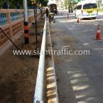 guardrail กันอันตราย จำนวน 416 แผ่น ติดตั้งที่จังหวัดชลบุรี