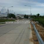 guardrail ป้องกันอุบัติเหตุ จำนวน 416 แผ่น ติดตั้งที่จังหวัดชลบุรี