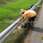 guard rail installation แขวงทางหลวงพิเศษ กรมทางหลวง ปริมาณงาน 1,950 เมตร