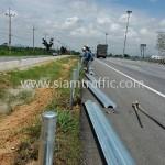 highway guard rail ทางหลวงพิเศษหมายเลข 7 ตอนหนองขาม - ชลบุรี
