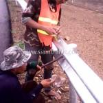 guard rail installation ศูนย์สร้างทางหล่มสัก กรมทางหลวง