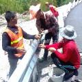 guard rail installation ศูนย์สร้างทางหล่มสัก ปริมาณรวม 7,500 เมตร