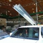 w-beam guardrail จำนวน 6 แผ่น และอุปกรณ์เสริม