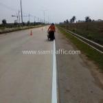 ตีเส้นถนนสีขาว นิคมอุตสาหกรรมเอเซีย