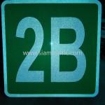 รับทำป้ายสะท้อนแสง ป้ายตัวอักษร 2B