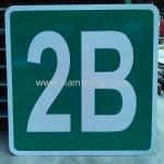 รับทำป้ายสะท้อนแสงตามแบบที่ต้องการ ป้ายตัวอักษร 2B