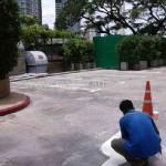 การตีเส้นที่จอดรถ โรงแรมแชงกรี-ลา กรุงเทพฯ