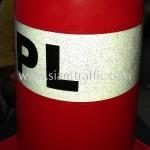 กรวยพลาสติกติดสติ๊กเกอร์ BPL