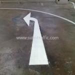 เส้นจอดรถ ศูนย์การค้าเกษรพลาซ่า ถนนเพลินจิต