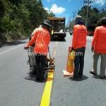 เส้นถนน รอบเกาะสมุย ปริมาณงาน 10,250 ตารางเมตร