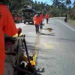 รับตีเส้นถนน รอบเกาะสมุย ปริมาณงาน 10,250 ตารางเมตร