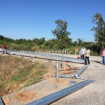 Installation steel guard rail Sisophon to Samrong NR56 Cambodia
