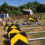 Installation Road Sign at Cambodia Northwest Provincial Road Improvement Project