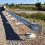 Steel guard rail at Cambodia Northwest Provincial Road Improvement Project NR56