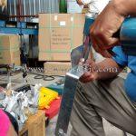 การยึดเป้าสะท้อนแสงติดการ์ดเรลกับแผ่นเหล็ก ส่งออกไปประเทศพม่า လမ်းဘေးအကာ အလပ်ပါသောသံပြား ထိုင်းနိုင်ငံထုတ်ပစ္စည်း