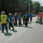 การสาธิตวิธีการตีเส้นถนน ที่ EIN DU-ZAR TA PYIN ประเทศพม่า လက်တွေ့လမ်းမျဥ်းဆွဲပြခြင်း နေရာ EIN DU-ZAR TA PYIN မြန်မာနိုင်ငံ