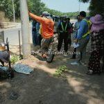 การสาธิตวิธีการตีเส้นจราจรด้วยเครื่องตีเส้น ที่ EIN DU-ZATHABYIN ประเทศพม่า လက်တွေ့လမ်းမျဥ်းဆွဲစက်နဲ့လမ်းမျဥ်းဆွဲပြခြင်း နေရာ EIN DU-ZATHABYIN မြန်မာနိုင်ငံ