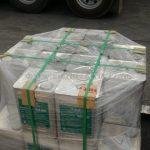 น้ำยาเชื่อมประสาน (น้ำยาไพรเมอร์, แท็คโค้ด) จำนวน 28 ปี๊บ ส่งออกไปประเทศพม่า ဆက်တဲ့ဆေးရေ စုစုပေါင်း 28 ပုံး ထိုင်းနိုင်ငံထုတ်ပစ္စည်း